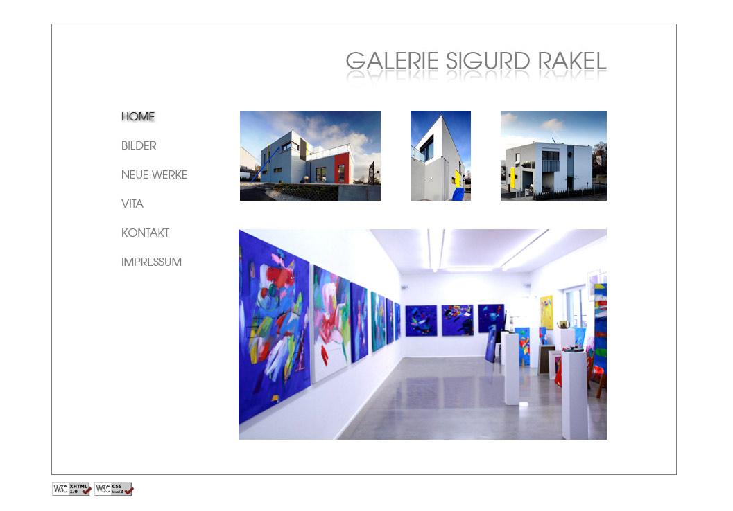 Website Galerie Sigurd Rakel