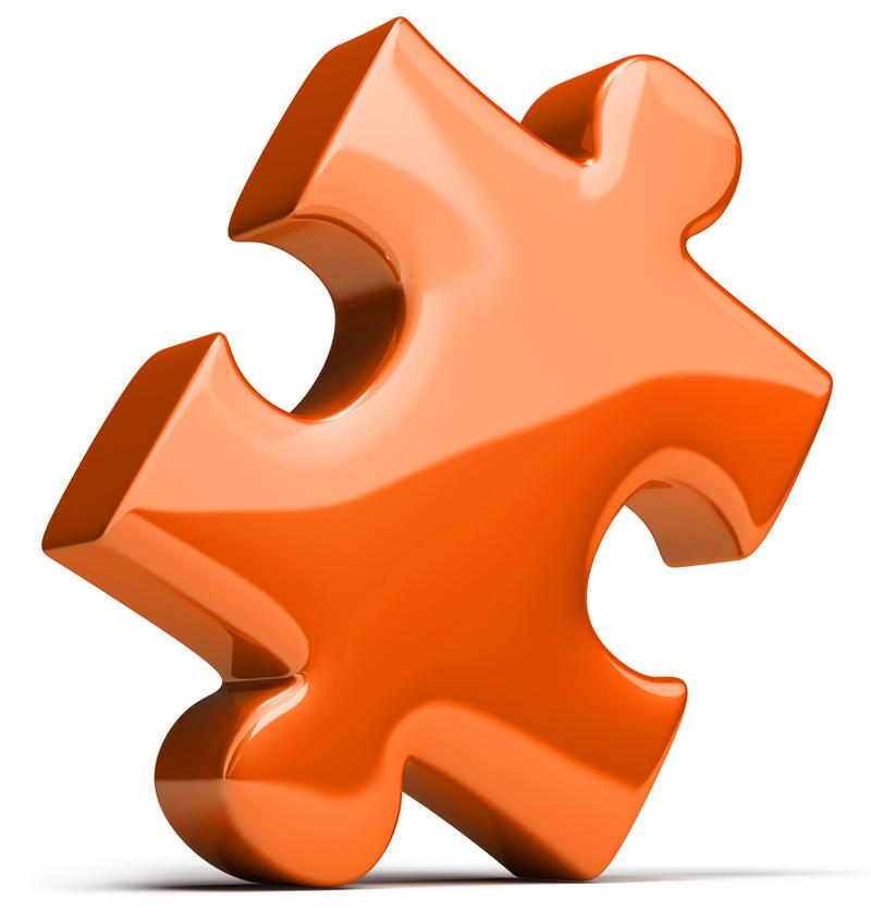 Puzzleteil muss zusammenpassen